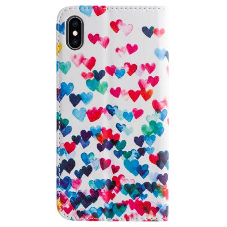 Husa Book Fashion iPhone XS Max Hearts