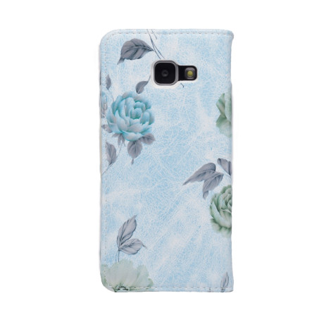 Husa Book Fashion Samsung Galaxy A3 2016, Albastru model flori