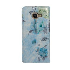 Husa Book Fashion Samsung Galaxy A5 2016, Albastru model flori