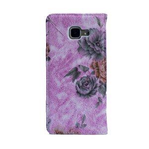Husa Book Fashion Samsung Galaxy A5 2016, Roz model flori