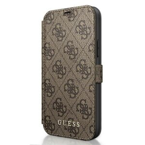 Husa Book Guess 4G pentru iPhone 12 Pro Max Brown