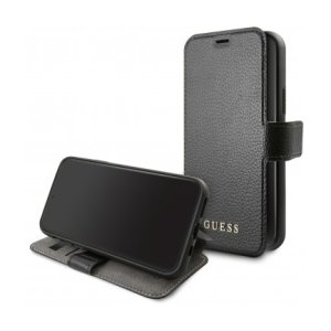 Husa Book Guess Iridiscent pentru iPhone 12/12 Pro Black