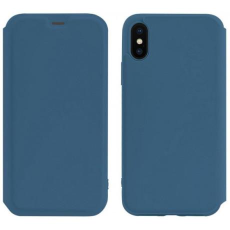 Husa Book Hoco Colorful Silicon iPhone XS Max Albastru