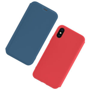 Husa Book Hoco Colorful Silicon  iPhone X/XS Albastru