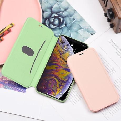 Husa Book Hoco Colorful Silicon pentru iPhone X/XS Verde