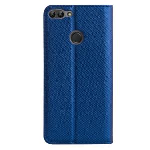 Husa Book Huawei P Smart, Contakt Albastra
