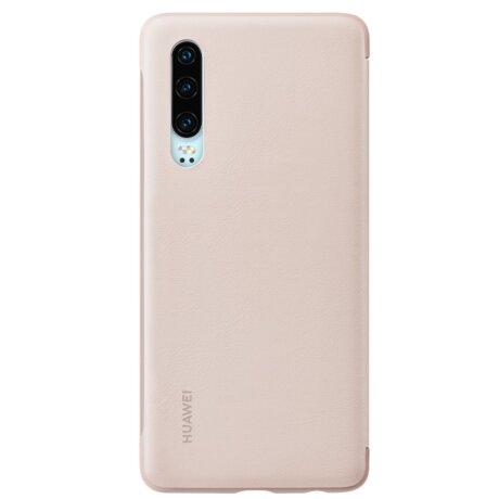 Husa Book Huawei Smart View pentru Huawei P30 Pink