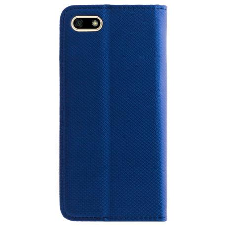 Husa Book Huawei Y5 Prime 2018, Contakt Albastru