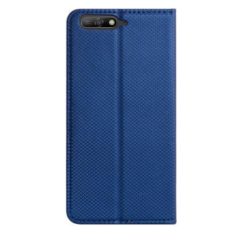 Husa Book Huawei Y6 2018, Contakt Albastra