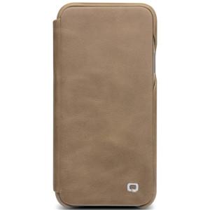Husa Book iPhone X/Xs 5.8'' Qialino Khaki