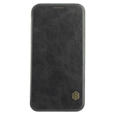 Husa Book iPhone X/XS, Nillkin Negru Qin