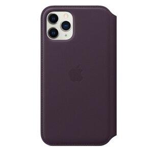 Husa Book Leather Folio Apple pentru iPhone 11 Pro Aubergine
