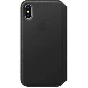 Husa Book Leather Folio Apple pentru iPhone X/XS  Negru