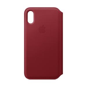 Husa Book Leather Folio Apple pentru iPhone X/XS  Rosu