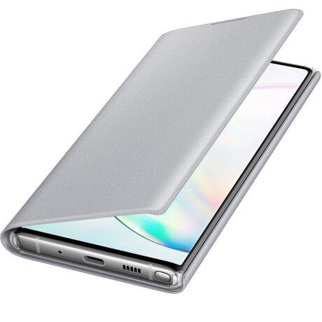 Husa Book Led Samsung pentru Samsung Galaxy Note 10 Argintiu