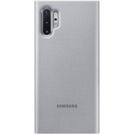 Husa Book Led Samsung pentru Samsung Galaxy Note 10 Plus Argintiu