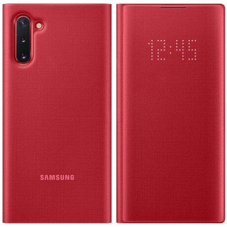 Husa Book Led Samsung pentru Samsung Galaxy Note 10 Rosu