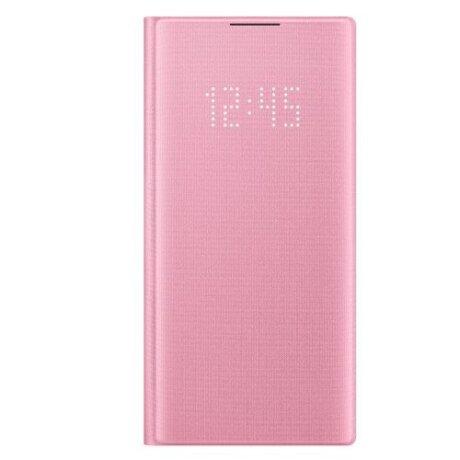 Husa Book Led Samsung pentru Samsung Galaxy Note 10 Roz