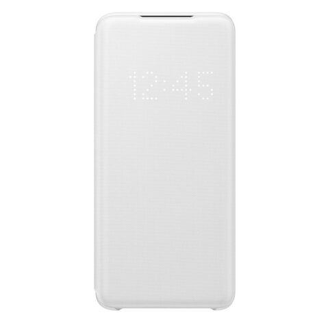 Husa Book Led Samsung pentru Samsung Galaxy S20 Alb
