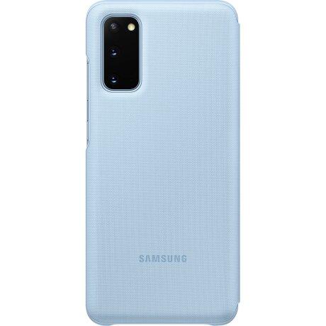 Husa Book Led Samsung pentru Samsung Galaxy S20 Albastru
