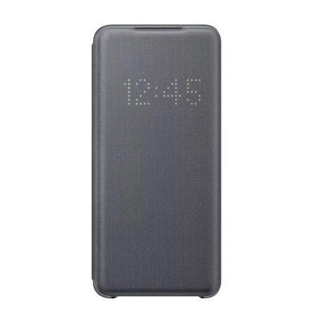 Husa Book Led Samsung pentru Samsung Galaxy S20 Gri