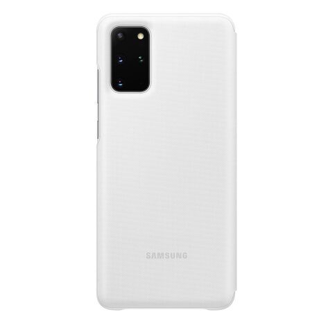 Husa Book Led Samsung pentru Samsung Galaxy S20 Plus Alb