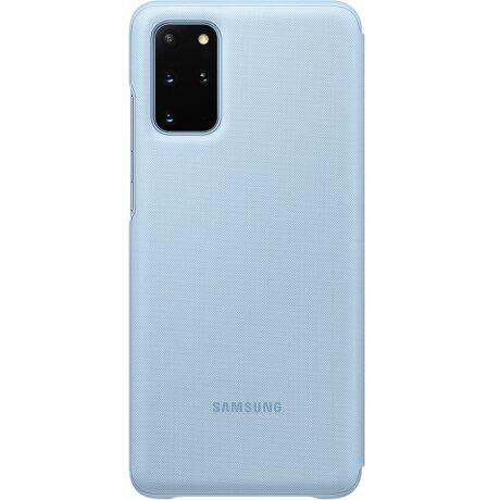 Husa Book Led Samsung pentru Samsung Galaxy S20 Plus Albastru