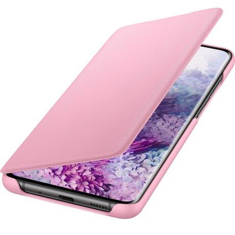 Husa Book Led Samsung pentru Samsung Galaxy S20 Plus Roz