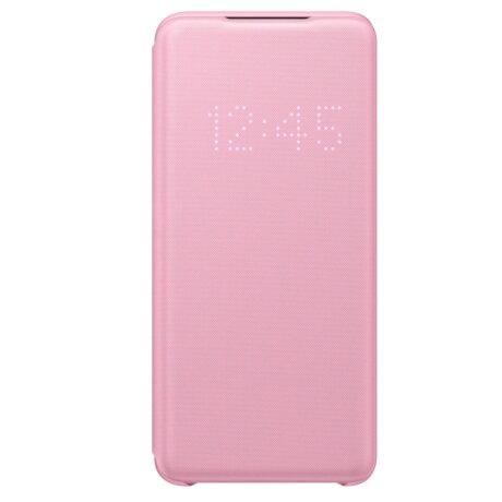 Husa Book Led Samsung pentru Samsung Galaxy S20 Roz