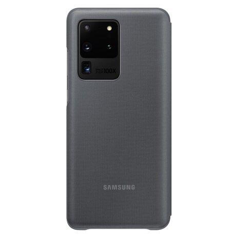 Husa Book Led Samsung pentru Samsung Galaxy S20 Ultra Gri