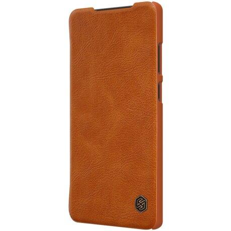 Husa Book Nillkin Qin Piele Ecologica pentru Samsung Galaxy Note 20 Maro