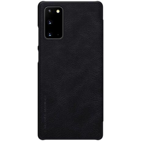 Husa Book Nillkin Qin Piele Ecologica pentru Samsung Galaxy Note 20 Negru