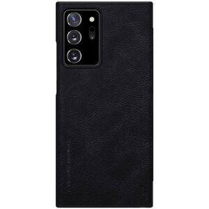 Husa Book Nillkin Qin Piele Ecologica pentru Samsung Galaxy Note 20 Ultra Negru