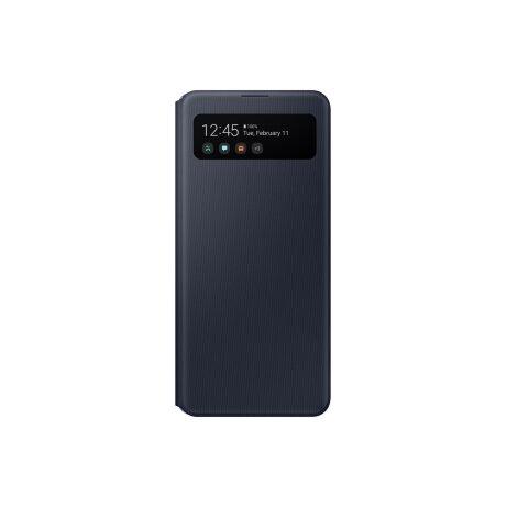 Husa Book S-View Led Samsung pentru Samsung Galaxy A41 Negru