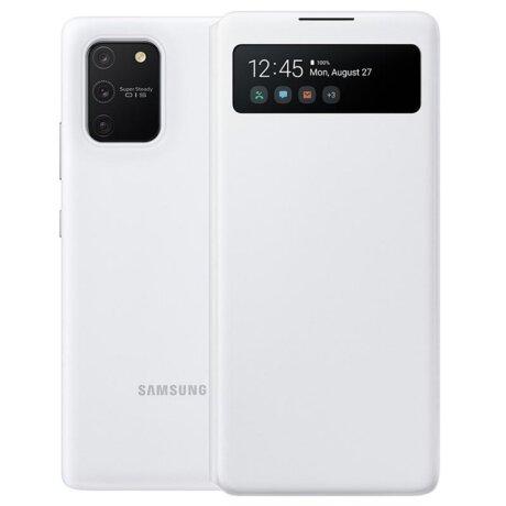 Husa Book S-View Led Samsung pentru Samsung Galaxy S10lite Alb