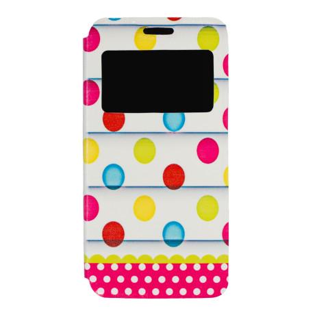 Husa Book S-View Samsung Galaxy A3 2016, Dots