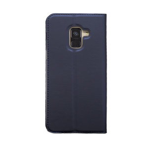 Husa Book S-View Samsung Galaxy A8 2018 Albastru