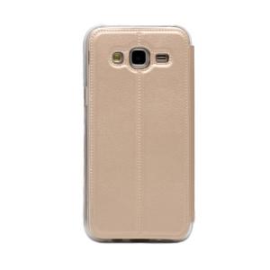 Husa Book S-View Samsung Galaxy J5 Auriu