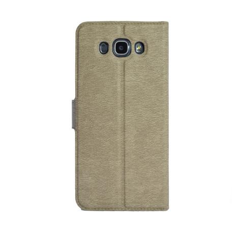 Husa Book S-View Samsung Galaxy J7 2016 Auriu