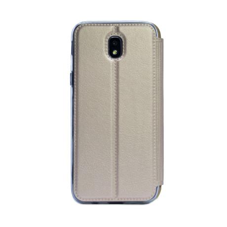 Husa Book S-View Samsung Galaxy J7 2017 Auriu