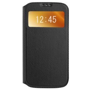 Husa Book S-View Samsung Galaxy S4, Contakt Neagra