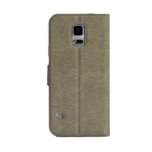 Husa Book S-View Samsung Galaxy S5 Auriu