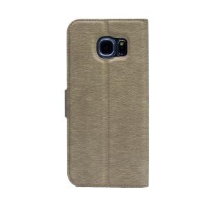 Husa Book S-View Samsung Galaxy S6 Auriu