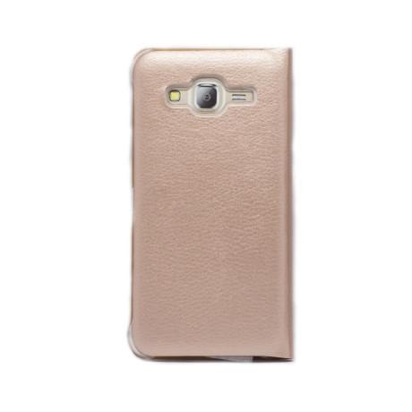 Husa Book Samsung Galaxy J3 2016 Auriu CTK