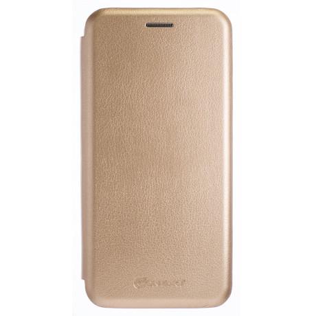 Husa Book Samsung Galaxy J4 Plus, Auriu OC