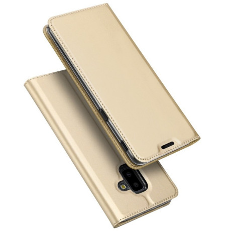Husa Book Samsung Galaxy J6 Plus, Dux Ducis Skin, Auriu