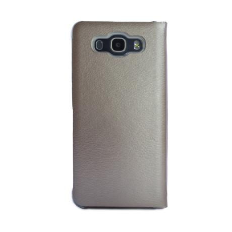 Husa Book Samsung Galaxy J7 2016 Auriu CTK