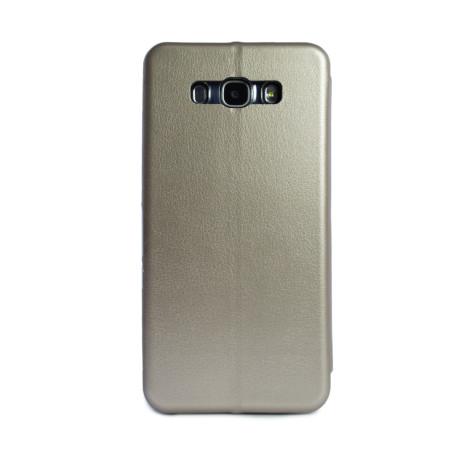 Husa book Samsung Galaxy J7 2016 Auriu OC