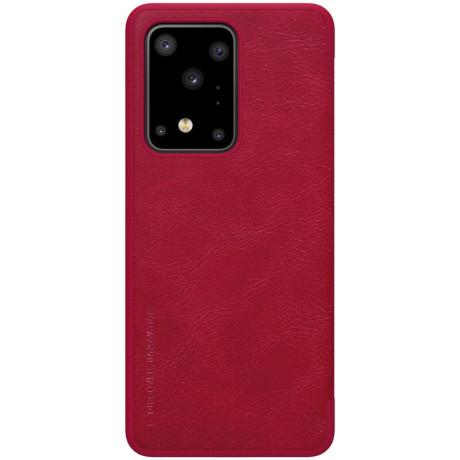 Husa Book Samsung Galaxy S20 Ultra, Nillkin Qin Rosu