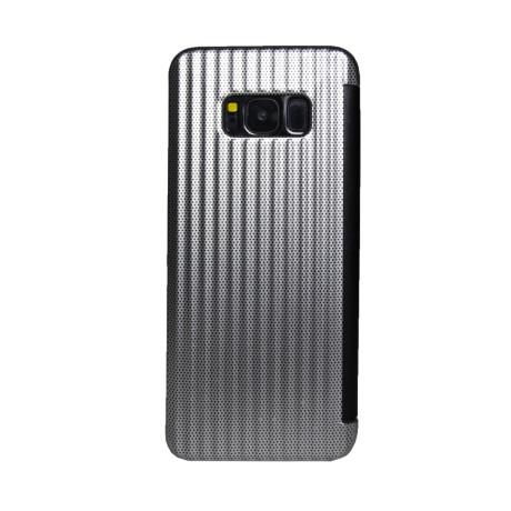 Husa book Samsung Galaxy S8 Argintiu